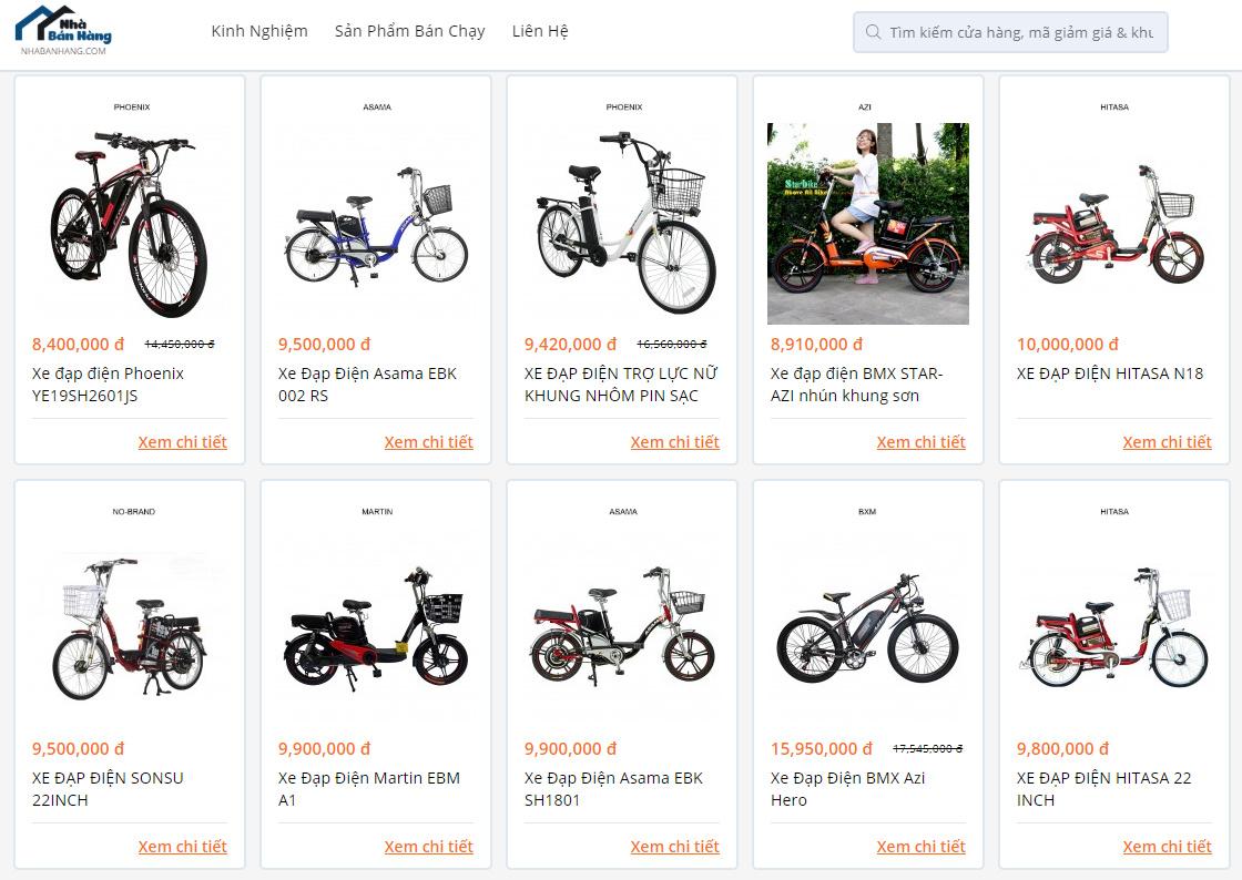Mua xe đạp điện tại Nhabanhang