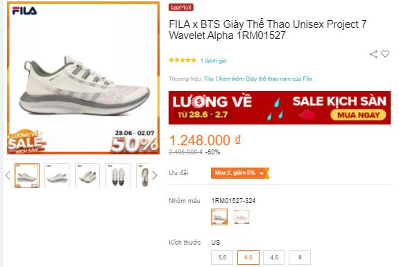 Giày FILA Project 7 Wavelet Alpha Sports Shoes 1RM01527 - Unisex