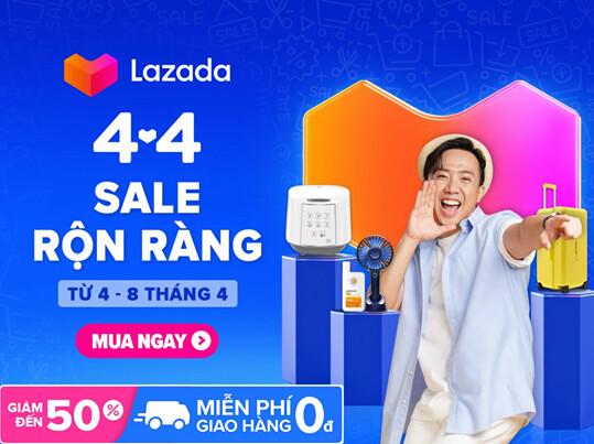 Lazada 4.4 Sale rộn ràng