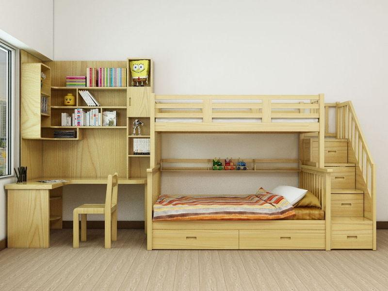 Bật mí kinh nghiệm mua và cách sử dụng giường tầng an toàn cho bé - Nội thất - Thuvienmuasam.com