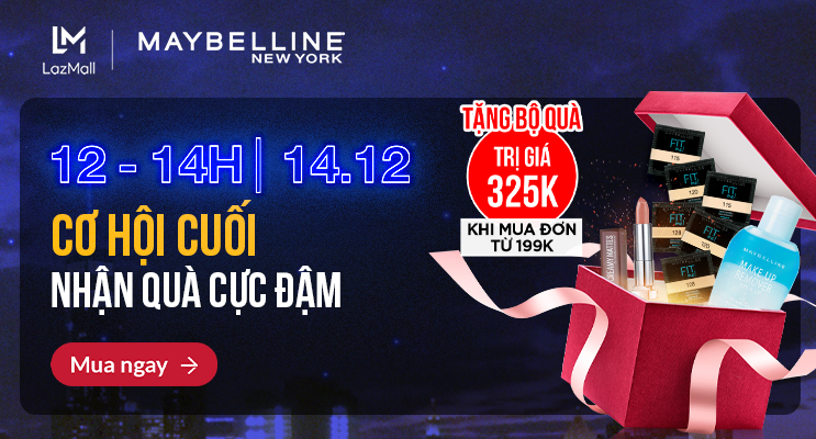 maybellne tang qua cuc dam